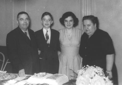 Bar Mitzvah of Donald STARR 1949 with Selig, Pearl and Sarane STARR